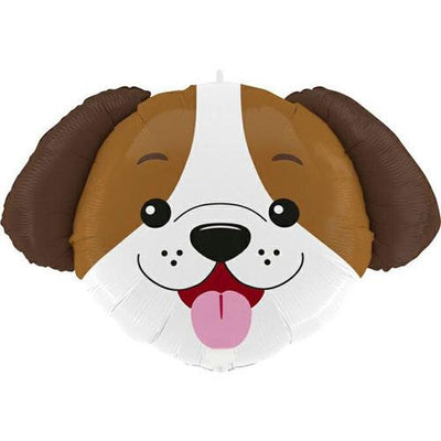 "The Original Party Bag Company - 33"" Dog Head Foil Balloon - G72005-P- The Original Party Bag Company"