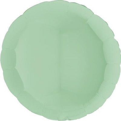 "The Original Party Bag Company - 36"" Chalk Pastel Mint Round Balloon - 361M01Gr- The Original Party Bag Company"