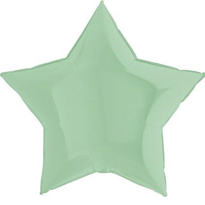 "The Original Party Bag Company - 36"" Chalk Pastel Mint Star Balloon - 362M01G- The Original Party Bag Company"