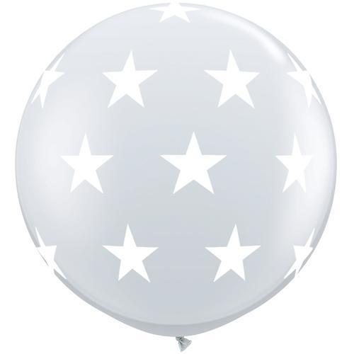 The Original Party Bag Company - 3ft Clear Stars Balloon - TF45210- The Original Party Bag Company
