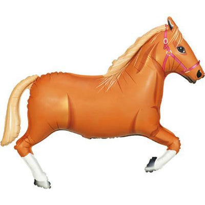 "The Original Party Bag Company - 43"" Brown Horse Balloon - 15773P- The Original Party Bag Company"
