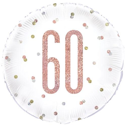 The Original Party Bag Company - 60th Birthday Rose Gold Foil Balloon - 84905- The Original Party Bag Company