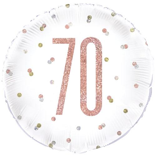 The Original Party Bag Company - 70th Birthday Rose Gold Foil Balloon - 84907- The Original Party Bag Company