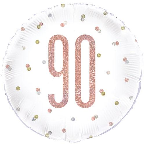 The Original Party Bag Company - 90th Birthday Rose Gold Foil Balloon - 84909- The Original Party Bag Company
