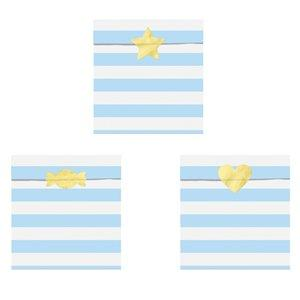 The Original Party Bag Company - Baby Blue Stripe Paper Treat Bags (Pk6) - CUBUFBAG15- The Original Party Bag Company