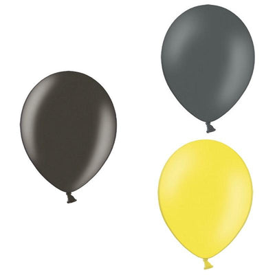 The Original Party Bag Company - Batman Themed Balloons (Pk12) - batmanbm- The Original Party Bag Company