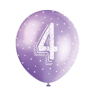 The Original Party Bag Company - Birthday Balloon 4 (Choose Your Colour) - birthdayballoonpur- The Original Party Bag Company