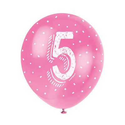 The Original Party Bag Company - Birthday Balloon 5 (Choose Your Colour) - birthdayballoon5- The Original Party Bag Company