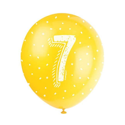 The Original Party Bag Company - Birthday Balloon 7 (Choose Your Colour) - birthdayballoon7yel- The Original Party Bag Company