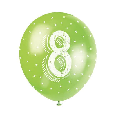 The Original Party Bag Company - Birthday Balloon 8 (Choose Your Colour) - birthdayballoon8- The Original Party Bag Company