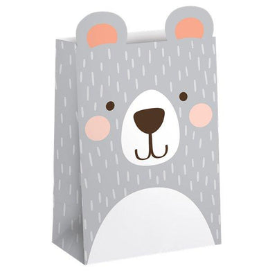 The Original Party Bag Company - Birthday Bear Paper Treat Bags (Pk8) - bbealoot- The Original Party Bag Company