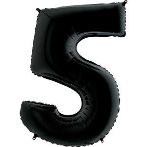 The Original Party Bag Company - Black Giant Number Balloons - - The Original Party Bag Company