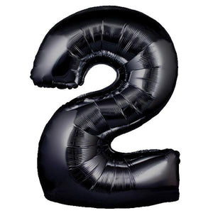The Original Party Bag Company - Black Giant Number Balloons - giantblacknum2- The Original Party Bag Company