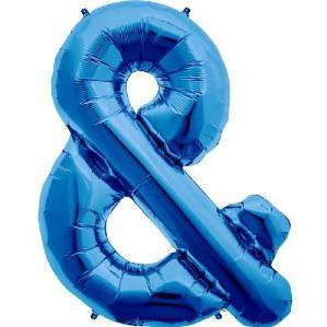 The Original Party Bag Company - Blue Ampersand Balloon - 00945-01N- The Original Party Bag Company