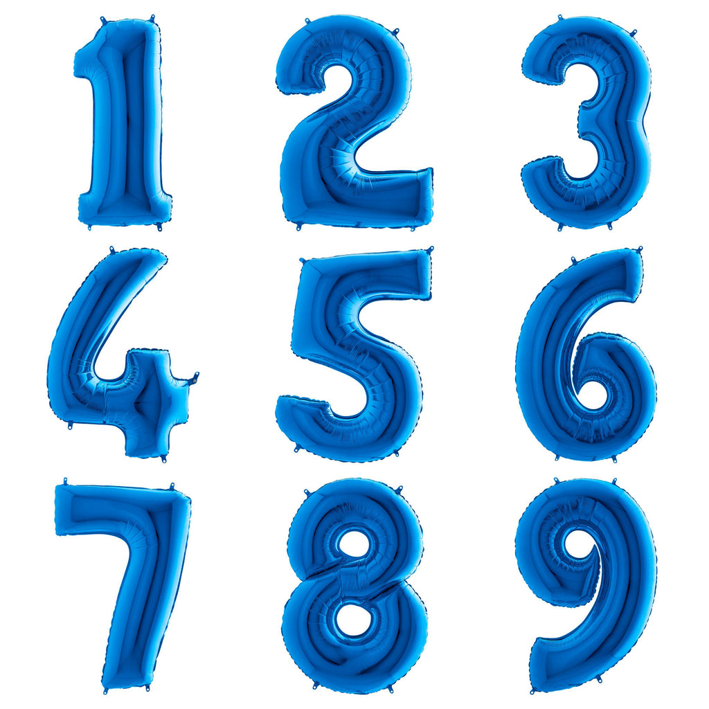 The Original Party Bag Company - Blue Giant Number Balloons - - The Original Party Bag Company