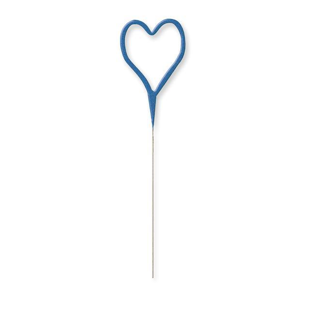 The Original Party Bag Company - Blue Heart Sparkler - BLHEASPARK- The Original Party Bag Company