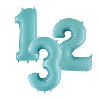 The Original Party Bag Company - Blue Pastel Air Fill Number Balloons - - The Original Party Bag Company