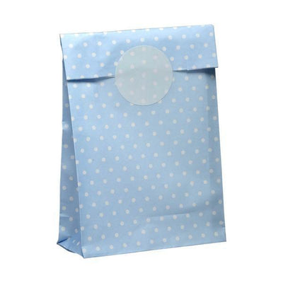 The Original Party Bag Company - Blue Pastel Polka Treat Bags (Pk10) - mav84bl- The Original Party Bag Company