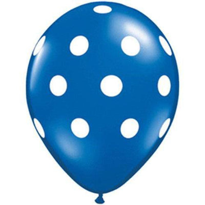 The Original Party Bag Company - Blue Polkadot Balloons (Pk6) - TF57594- The Original Party Bag Company