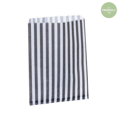 The Original Party Bag Company - Candy Stripe Black Treat Bags (Pk25) - blacs18- The Original Party Bag Company