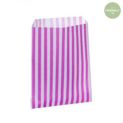 The Original Party Bag Company - Candy Stripe Pink Treat Bags (Pk25) - hpcs18- The Original Party Bag Company