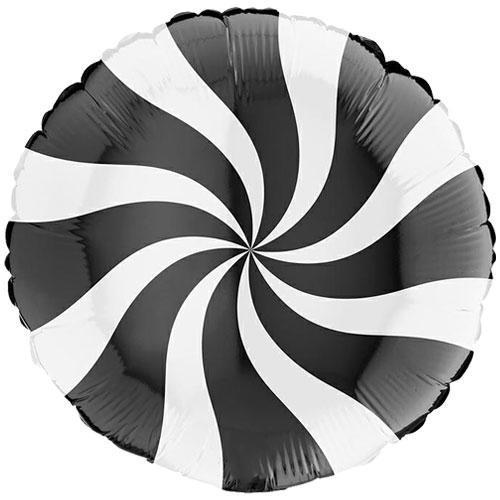 The Original Party Bag Company - Candy Swirl Black Foil Balloon - G010804WhK-P- The Original Party Bag Company
