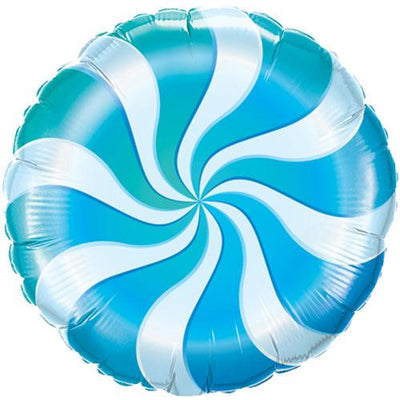 The Original Party Bag Company - Candy Swirl Blue Balloon - 17362- The Original Party Bag Company