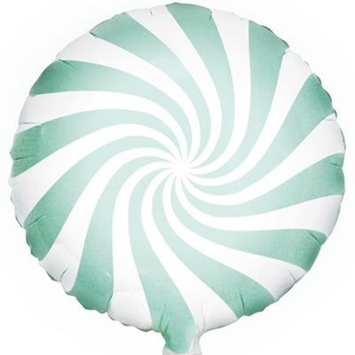The Original Party Bag Company - Candy Swirl Mint Balloon - FB20P-103- The Original Party Bag Company