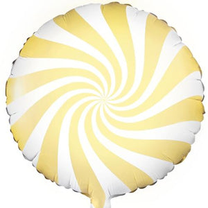 The Original Party Bag Company - Candy Swirl Yellow Balloon - FB20P-084J- The Original Party Bag Company
