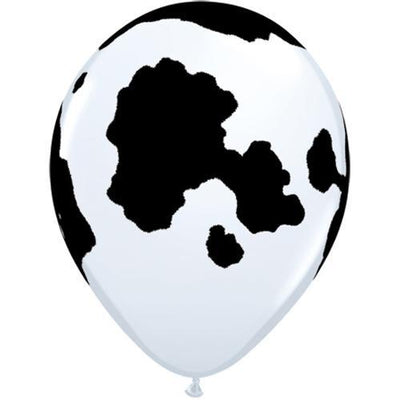 The Original Party Bag Company - Cow Print Balloons (Pk12) - tf04152- The Original Party Bag Company
