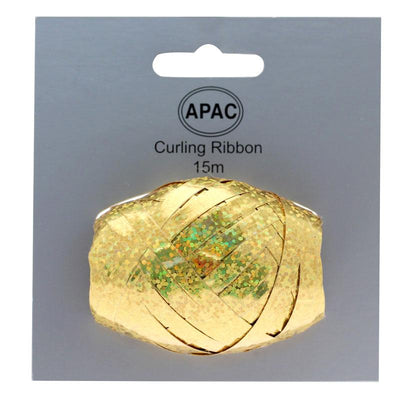 The Original Party Bag Company - Curling Ribbon Holographic Gold 15m - 118748- The Original Party Bag Company