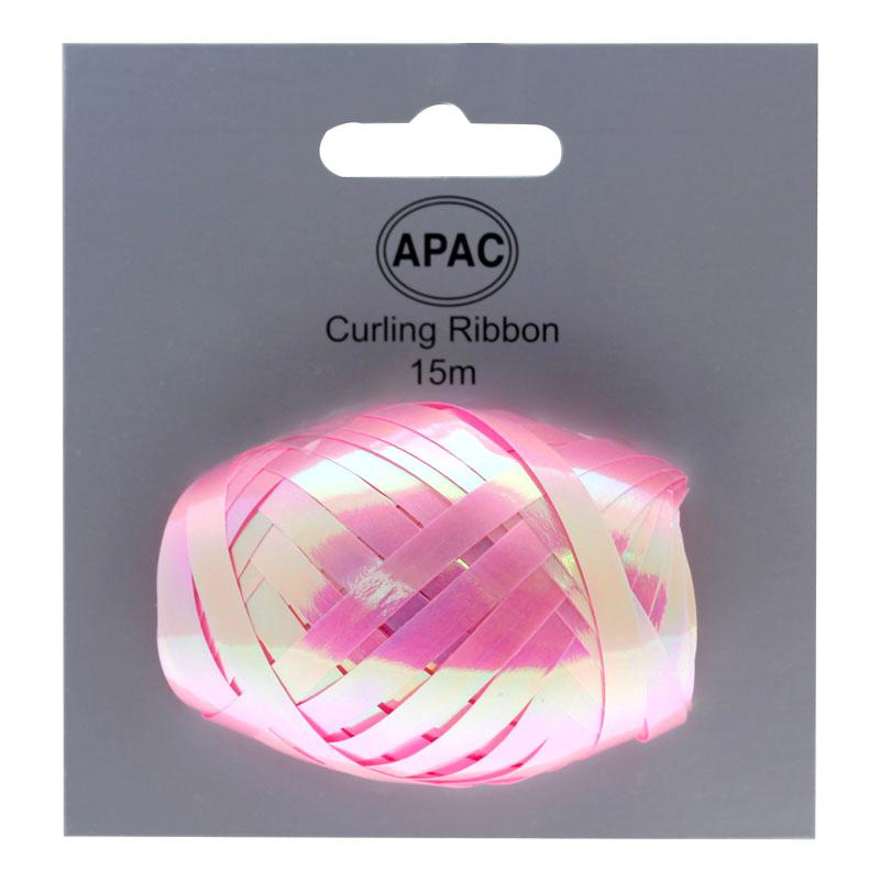 The Original Party Bag Company - Curling Ribbon Iridescent Pink 15m - 118497- The Original Party Bag Company