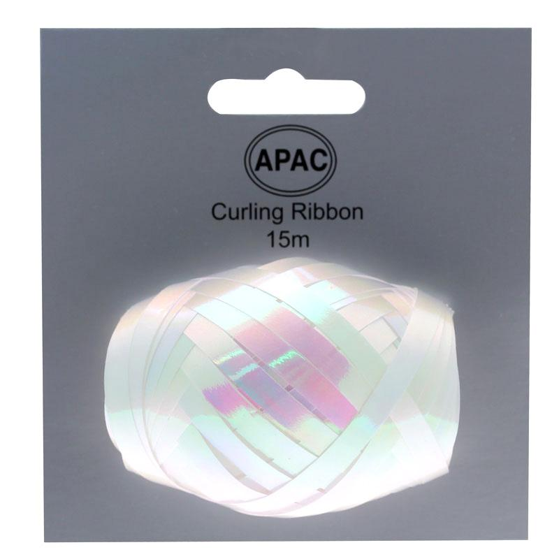 The Original Party Bag Company - Curling Ribbon Iridescent White 15m - 118496- The Original Party Bag Company
