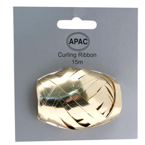 The Original Party Bag Company - Curling Ribbon Metallic Gold 15m - 118746- The Original Party Bag Company