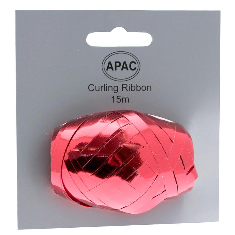 The Original Party Bag Company - Curling Ribbon Metallic Red 15m - 118747- The Original Party Bag Company