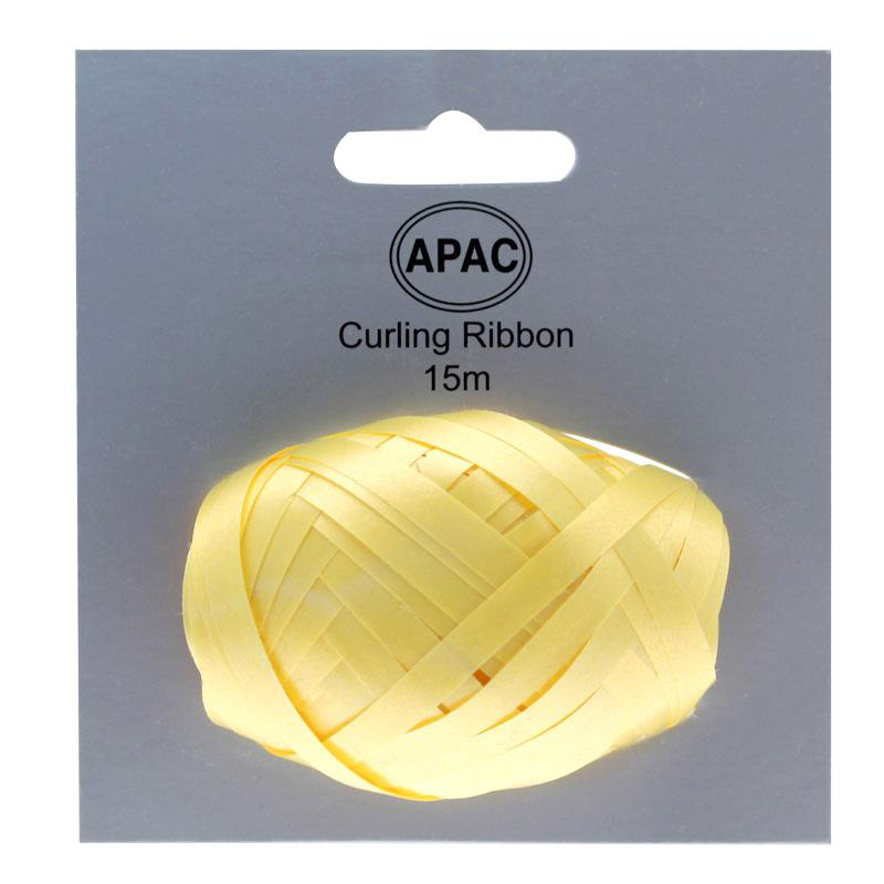 The Original Party Bag Company - Curling Ribbon Yellow 15m - 118755- The Original Party Bag Company