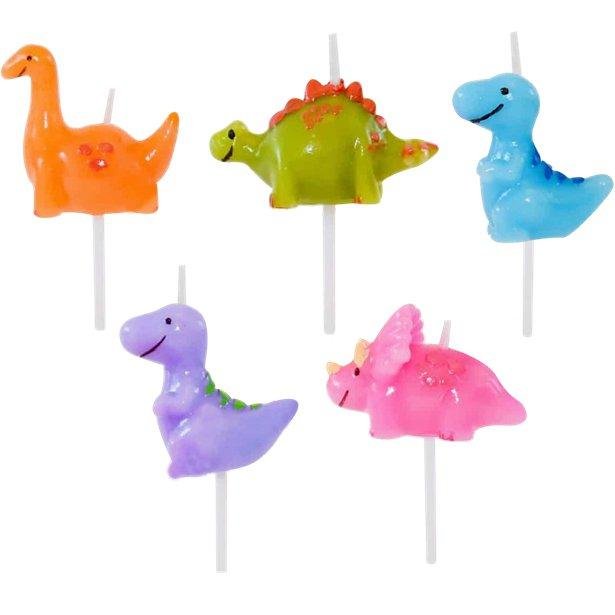 The Original Party Bag Company - Dinosaur Candles (pk5) - cand305- The Original Party Bag Company