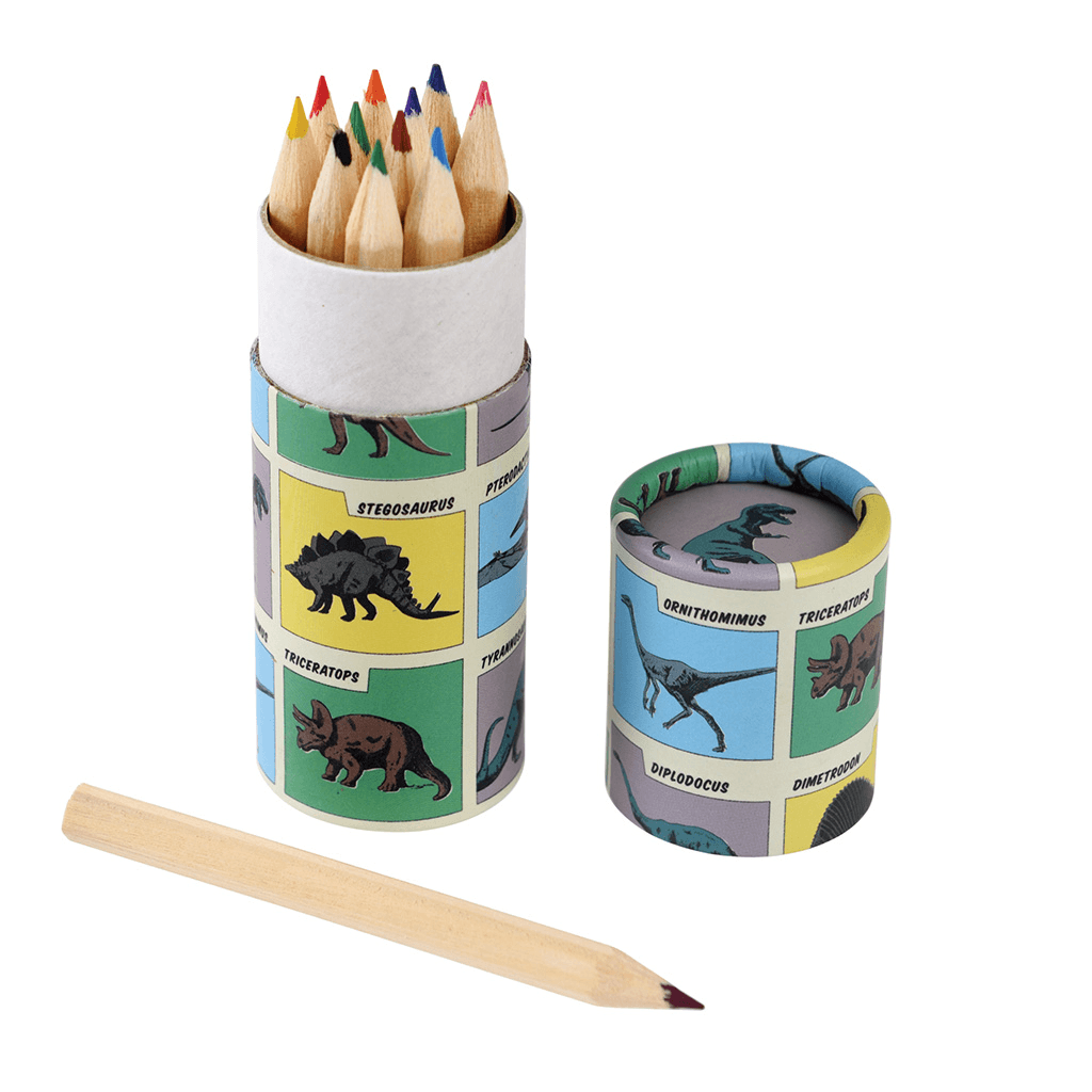 The Original Party Bag Company - Dinosaur Colouring Pencils (Pk12) - 28677- The Original Party Bag Company