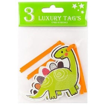 The Original Party Bag Company - Dinosaur Gift Tags (Pk3) - 176750- The Original Party Bag Company