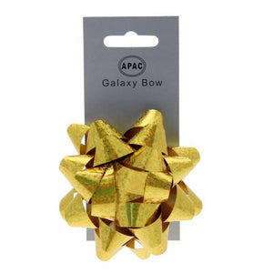The Original Party Bag Company - Galaxy Bow Holographic Gold - 118471- The Original Party Bag Company