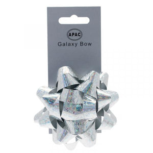 The Original Party Bag Company - Galaxy Bow Holographic Silver - 118472- The Original Party Bag Company