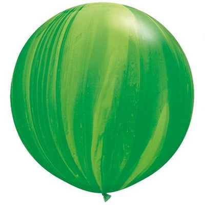 The Original Party Bag Company - Giant Green Marble Balloon - 63757bm- The Original Party Bag Company