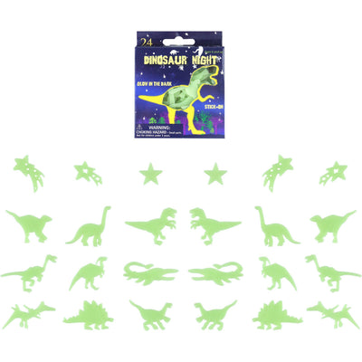 The Original Party Bag Company - Glow in the Dark Dinosaurs (Pk24) - 143392- The Original Party Bag Company