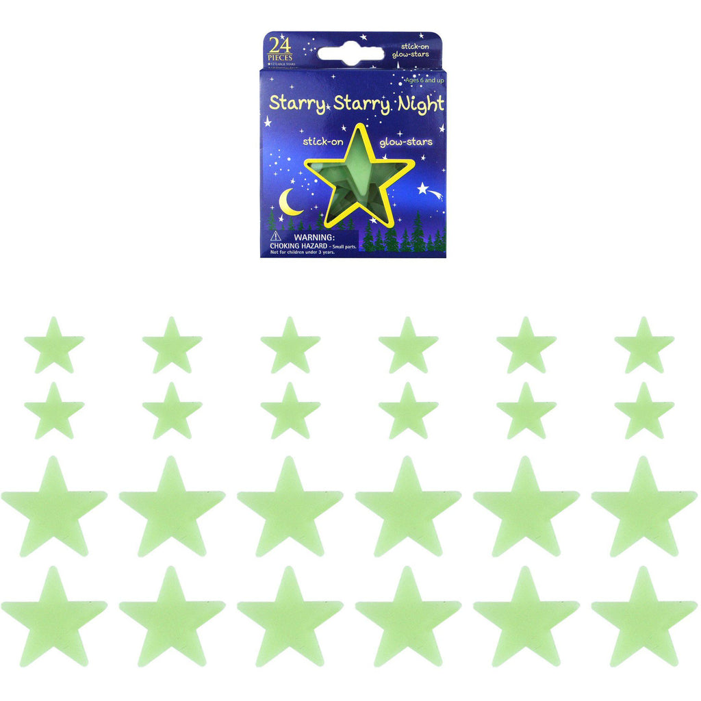 The Original Party Bag Company - Glow In The Dark Stars (Pk24) - 144438- The Original Party Bag Company