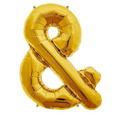 The Original Party Bag Company - Gold Ampersand Balloon - 01053-01N- The Original Party Bag Company