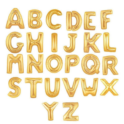 The Original Party Bag Company - Gold Giant Letter Balloons - lettergoldxl-01- The Original Party Bag Company