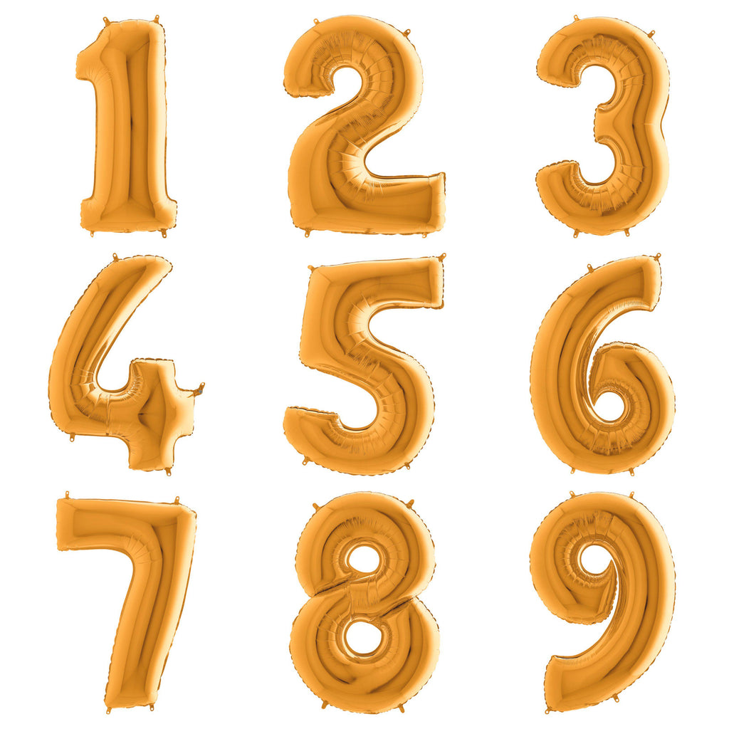 The Original Party Bag Company - Gold Giant Number Balloons - - The Original Party Bag Company