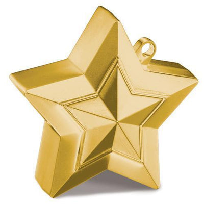The Original Party Bag Company - Gold Star Balloon Weight - 38790- The Original Party Bag Company