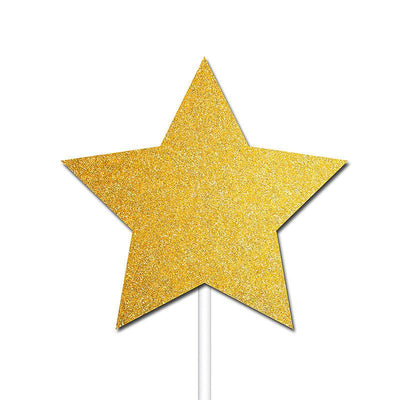 The Original Party Bag Company - Gold Star Cake Toppers (Pk12) - BM562- The Original Party Bag Company