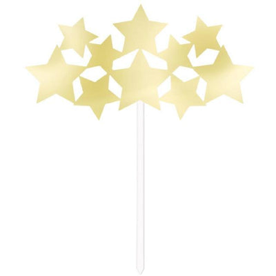 The Original Party Bag Company - Gold Stars Cake Topper - 311617- The Original Party Bag Company
